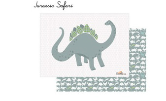 This dinosaur placemat makes a lovely unusual gift for little dinosaur fans.