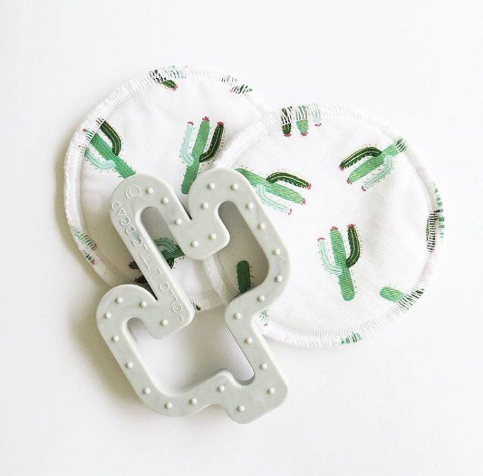 Grey Silicone cactus teether
