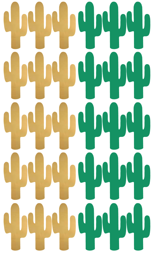 Lovely green and gold cactus wall stickers for all you cactus lovers!! Fab for any room